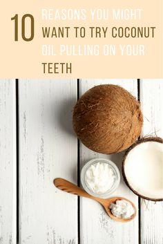 Did you know that coconut oil can help whiten & strengthen your teeth? Here are 10 coconut oil pulling benefits that will help keep you away from the dentist. Teeth Health, Healthy Teeth, Oil Pulling Method, Coconut Oil Pulling Benefits, Interesting Health Facts, Energy Oils, Tooth Sensitivity, Natural Health Remedies, Dental Care