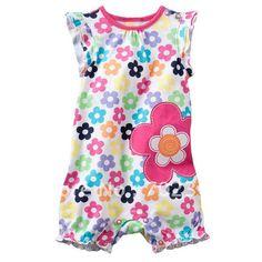 Lovely flower baby romper  girls new design clothing 5pcs/LOT Fabrics is comfortable x-176