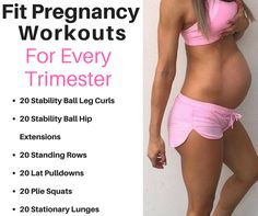 Pregnancy Workouts For Each Trimester.  No Gym Required.