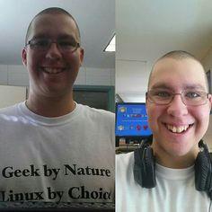 ●Instagram● 2e année 4e semaine 9e jour à fierbourg dep soutien informatique =)  Linux angel & free software white t-shirt =D