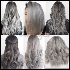 Gray Wig Black Girl Silver Grey Human Hair Wigs Best Supplement For Grey Hair Ash Grey Hair, Grey Ombre Hair, Silver Grey Hair, Silver Ash, White Hair, Grey Blonde, Blonde Hair, Ash Hair, Silver Blonde