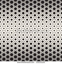 Vector Seamless Halftone HoneyComb Gradient Pattern. Abstract Geometric Background Design