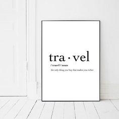 Travel Print Inspirational Quote Poster by PrintsMiuusStudio