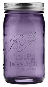 HoneyHome - Ball Mason Jar violett, gross