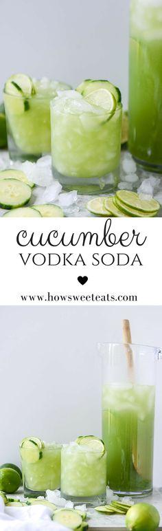 cucumber vodka soda by @howsweeteats I howsweeteats.com