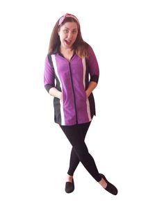 Women's Smock – Purple-Long-Sleeve