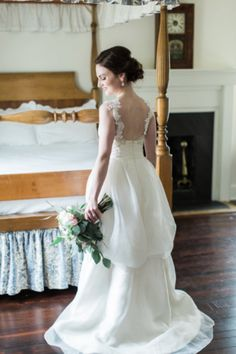 Wedding Dress with Lace Straps