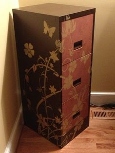 Awesome Cardboard File Cabinet 3 Layer Filing Home Office Furniture Do Your Need Some Stencil Love Check Out How Box Holder Storage Organizer Folder Divider Furniture Repair, Furniture Makeover, Diy Furniture, Reclaimed Furniture, Upcycled Furniture, Office Furniture, Home Office Design, Office Decor, Office Ideas