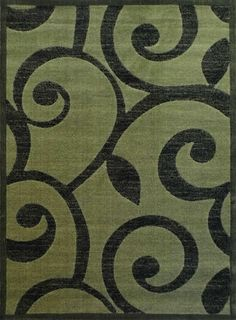 Modern Green Area Rug #154 Americana (8 Ft. X 10 Ft. 6 In.)
