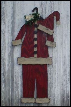 Prim Wood Santa Suit.