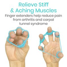 Carpal Tunnel Exercises, Arthritis Exercises, Exercise For Arthritis, Carpal Tunnel Relief, Sore Hands, Hand Therapy, Improve Flexibility, Exercise For Kids, Silicone Rings
