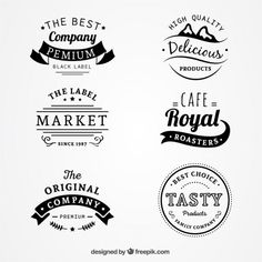 Collection of vintage badges Free Vector