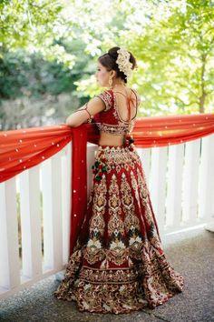 Bridal Indian Bride Wedding Lengha
