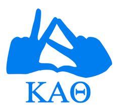 Kappa Alpha Theta Hand Sign Decals