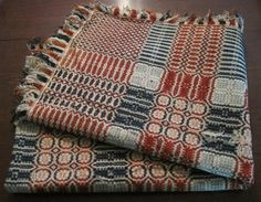 Antique 1890'S RED White Blue Woven Coverlet Bedspread Jacquard Americana   eBay