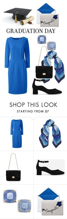 """Graduation Day Style"" by shistyle on Polyvore featuring Lands' End, Diane Von Furstenberg, Red Herring, CHARLES & KEITH, Kate Spade, Graduation and plus size dresses"