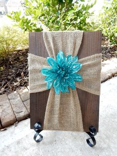Hey, I found this really awesome Etsy listing at https://www.etsy.com/listing/265095707/burlap-cross-on-wood-decorative-cross