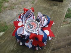 Houston Texans Inspired Boutique Bow