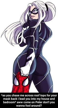 Black cat and Spiderman Black Cat Marvel, Spiderman Black Cat, All Spiderman, Marvel Comics, Heros Comics, Marvel Art, Marvel Heroes, Marvel Women, Marvel Girls