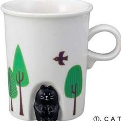 Decole HOKKORI Cat in Cave Mug Cup