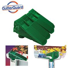 The Wedge Downspout Gutter Guard - Eliminates Downspout Pipe Clogs from Leaves and Debris - (Green) - Yard Firm Color:Green Color:Green Full gutter guard systems cost thousands of dollars to install. The Wedge Downspout Gutter Guard provides an alte Lawn And Landscape, Home Fix, Paint Stripes, Rv Hacks, Outdoor Projects, Outdoor Ideas, Wood Projects, Green Colors, Cool Photos