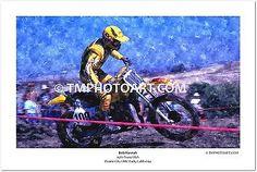 Bob Hannah #100 Yamaha Trans-USA 12 x 18 Art Photo Vintage Motocross MX