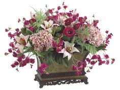 artificial flower arrangements centerpieces | beautiful silk flowers centerpiece.jpg