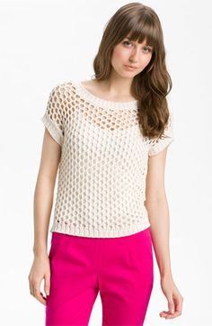 Vince Camuto Open Mesh Stitch Sweater available at Nordstrom