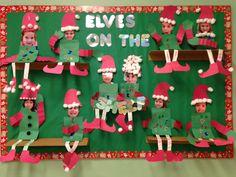 Elf on the Shelf bulletin board