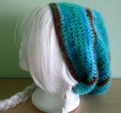 Handmade crochet simple beanie / Soft slouchy by gamepresent
