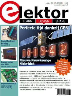 """Cover of """"Elektor Magazine Edition Arduino, Clock With Seconds, Multimedia Technology, Innovation, Nixie Tube, Voltage Regulator, Electronics Projects, Magazine, Tips"""
