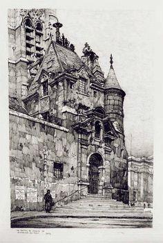 ? Un Portail de l'Eglise de Saint Etienne du Mont , Paris
