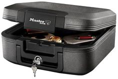 Fire-Safe Waterproof Chest UL Classified ½-Hour Proven Fire Protection Tubular Key Lock ETL Verified For Water Submersion and Fire Protection of Digital Media Like CD's, DVD's and USB Drives Security Safe, Social Security, Cash Box, Flood Damage, Paper Clutter, Thing 1, Cubic Foot, Home Office Organization, Usb Flash Drive