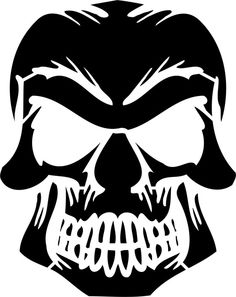 free skull pumpkin pattern - Google Search  (would be cool to do this on a t-shirt in multicolour)
