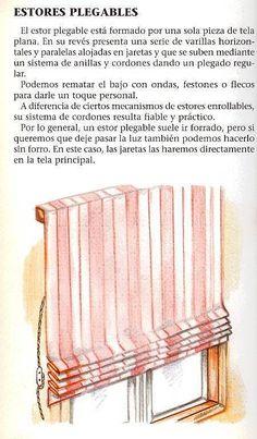 Tipos de cortinas visillos y estores c mo elegir cintas - Como hacer estores ...