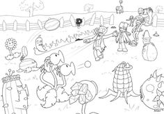 plants vs zombies free printable coloring page for kids - Plants Vs Zombies Free Coloring Pages