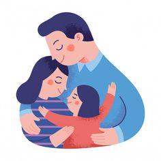Concept illustration of a happy family h... | Premium Vector #Freepik #vector #baby #love #children #family