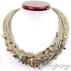 Flaxen collana di turchese e mokait di Jaghajaga su DaWanda.com