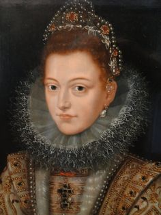 Unknown Artist after Frans Pourbus the Younger (1569-16220 - Portrait of Isabella Clara Eugenia, Regent of the Netherlands : detail