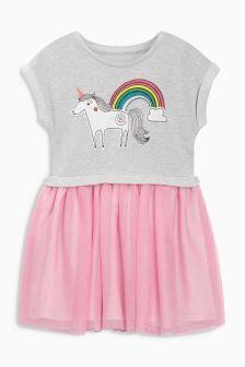 Flamingo Pocket Two Part Dress (3mths-6yrs)
