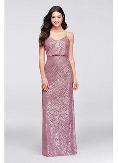 Sequin Blouson Bridesmaid Dress AP2E202814