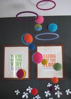 maeve%27s crocheted mobile