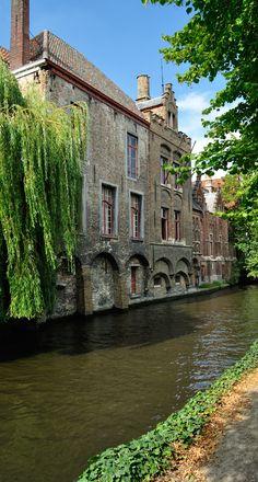Bruges et ses canaux, Belgique