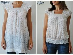 Upcycled Clothing Ideas | Pretty Ditty: Upcycled/altered nightie looking shirt