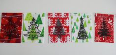 Holiday Gratitude Flags Oh Christmas Tree Red/Green by arubymoon