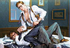 KINGSMAN : THE SECRET SERVICE SLASH Harry x Eggsy and Merlin x Harry fanart by Junseo (http://blog.naver.com/noonrema)
