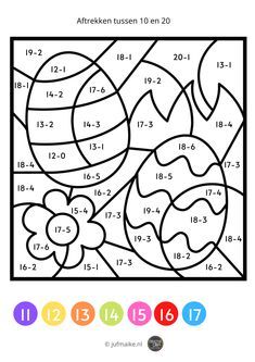 Spring and Easter theme Play School Activities, Book Activities, Math Coloring Worksheets, Worksheets For Kids, Teaching Technology, Teaching Biology, Kindergarten Colors, Math For Kids, Kids Learning