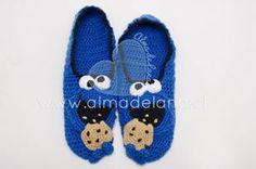 #pantuflas #cookiemonster #almadelana #handmade