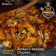 """Amber's Sesame Chicken 