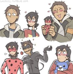 *crossover* |||Lady Bug||Voltron||| Keith / Lance